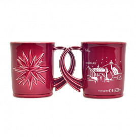 Christmas mug with silhouette