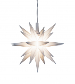 Miniaturstern - ca. 8cm / Kunststoff - weiß