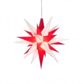 A1e - ca. 13cm / Kunststoff - weiß/rot (inkl. LED)